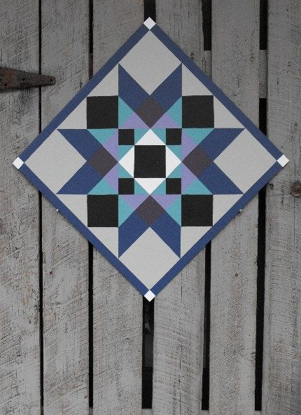 Painted Wood Barn Quilt Washington Star by TheBarnQuiltStore
