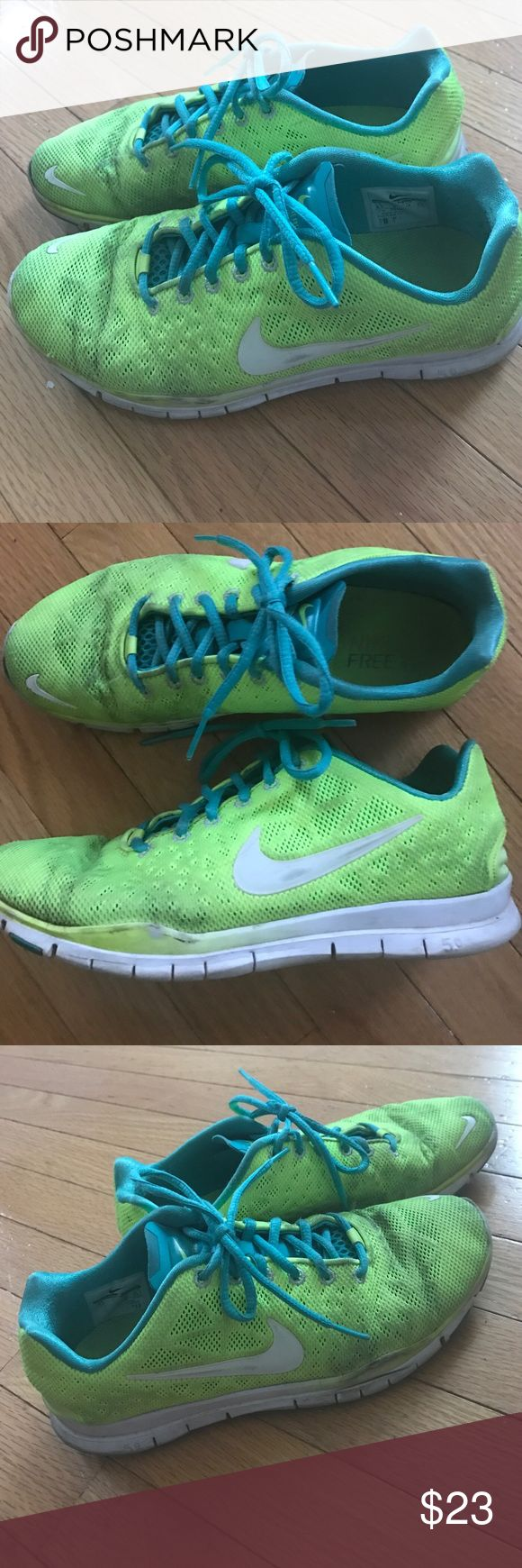 Nike free tr fit 3 breathe green yellow sneakers Probably the most comfortable sneakers I've ever owned. Size 8.5 Nike Shoes Sneakers