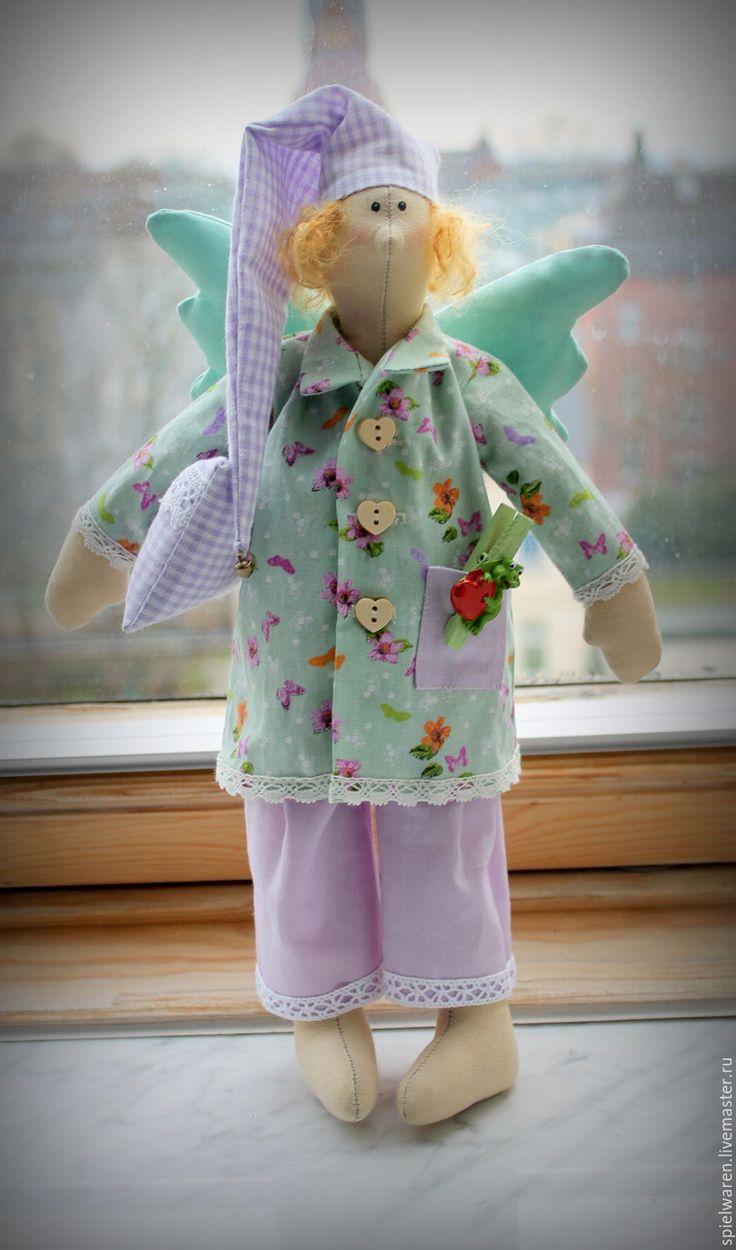 Купить Ангел добрых снов - комбинированный, тильда, тильда кукла, тильда ангел