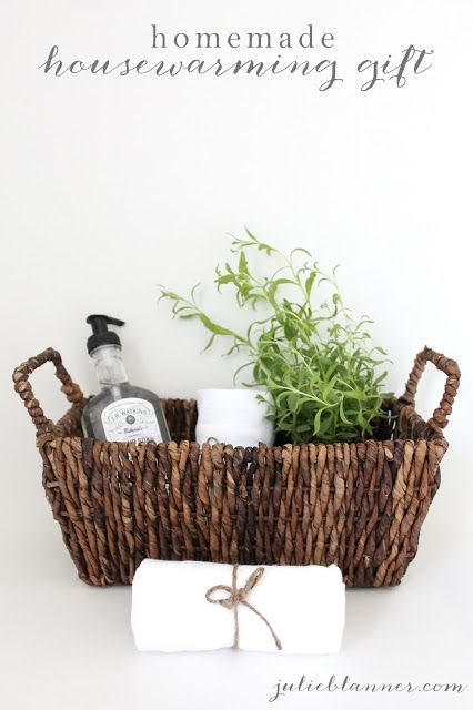 Bring a sweet and thoughtful gift as a housewarming present. Via Coordinately Yours, by Julie Blanner