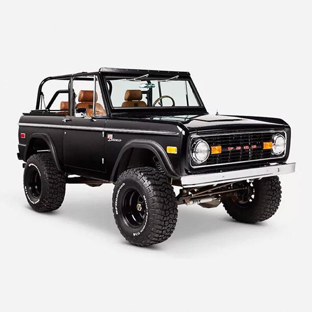 Blacked Out Ford Bronco Hand Built And Restored In All The