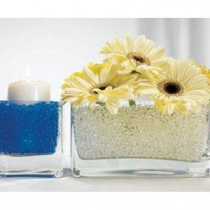 Water Pearls Centerpiece Filler - White. Price $6.80 per bag