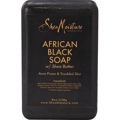 Shea Moisture African Black Soap ... Started using when I developed perioral dermatitis. Love this soap!