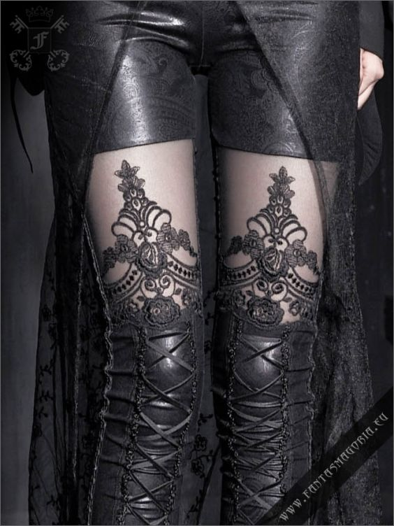 Macbeth leggings | Gothic, Steampunk, Rock, Fetish, and other Alternative fashion retail and wholesale apparel & accessories. Love it!!!!