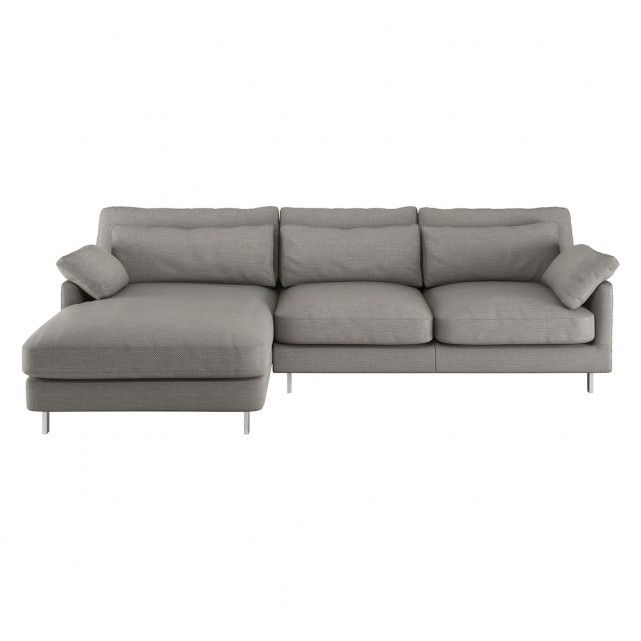 Cuscino Grey Textured Left Arm Chaise Sofa Chaise Sofa Grey Chaise Sofa Sofa Uk