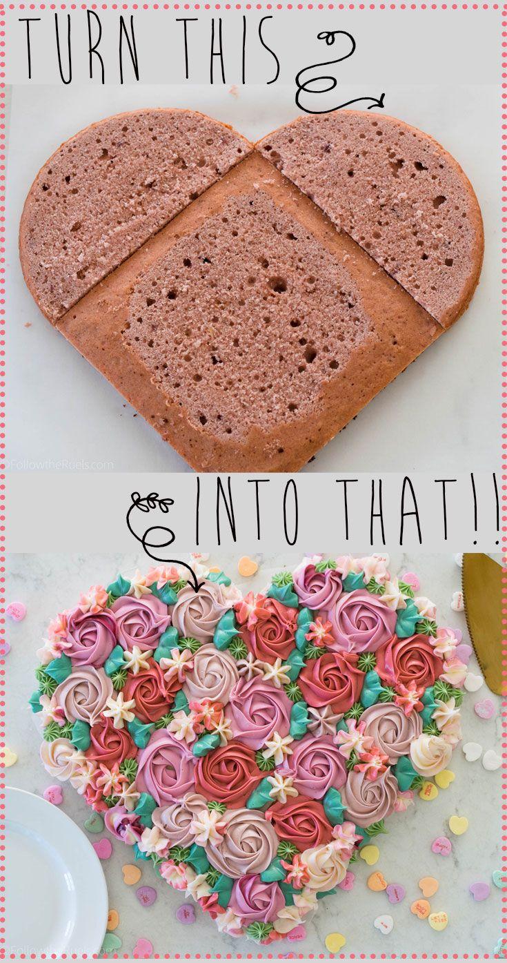 Buttercream Flower Heart Cake Follow The Ruels Cake Decorating Designs Easy Cake Decorating Cake Shapes