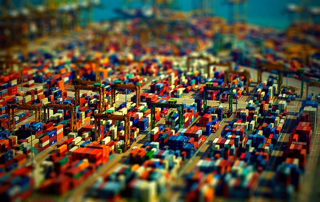 Port of Singapore - TiltShift by Rukasu1, via Flickr