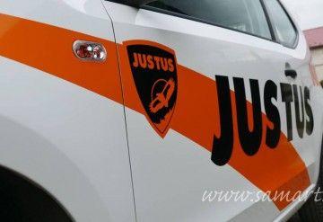 Reklama na samochodzie dla Justus Kraków