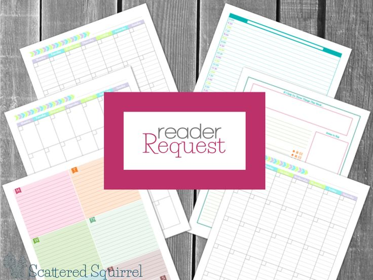 It's time for another Reader Request. This month it's all about the planner printables, with a bit of a different twist for me. Let me know what you think