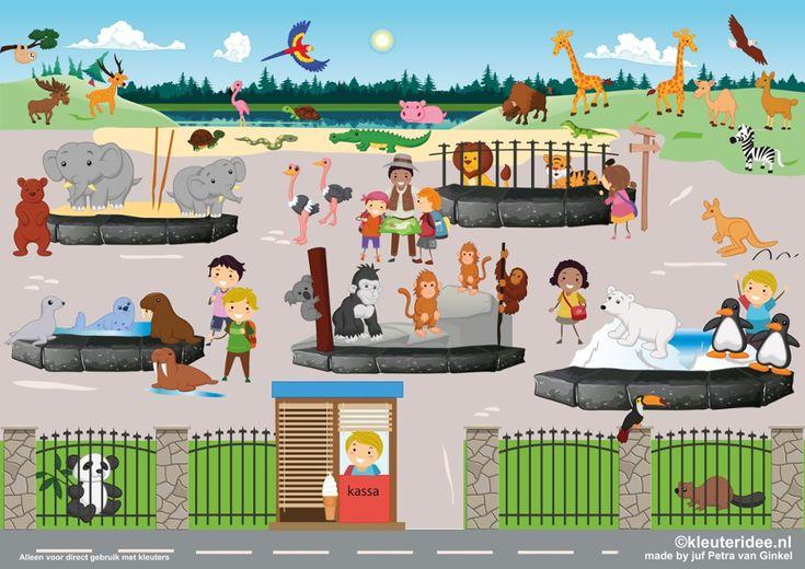 TOUCH this image: Interactieve praatplaat thema dierentuin, kleuteridee by juf Petra