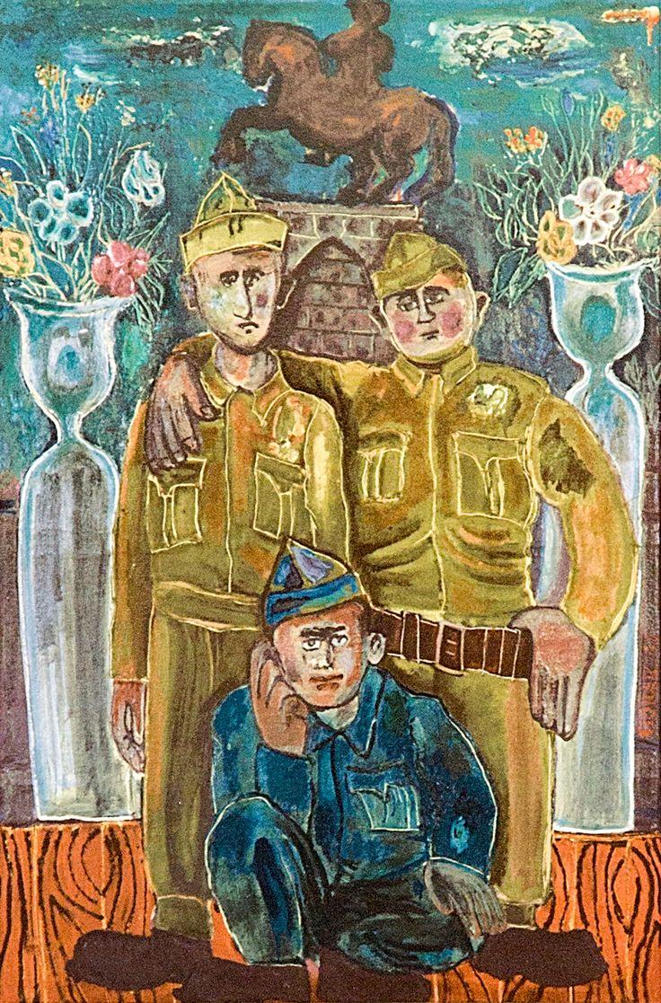 Cihat Burak'ın ' Askerlik Hatırası ' adlı tablosu