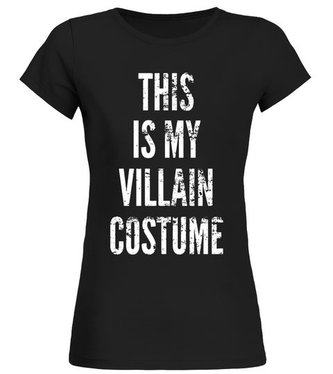 THIS IS MY VILLAIN COSTUME Halloween Vintage Funny T-Shirt The Joker T-shirt