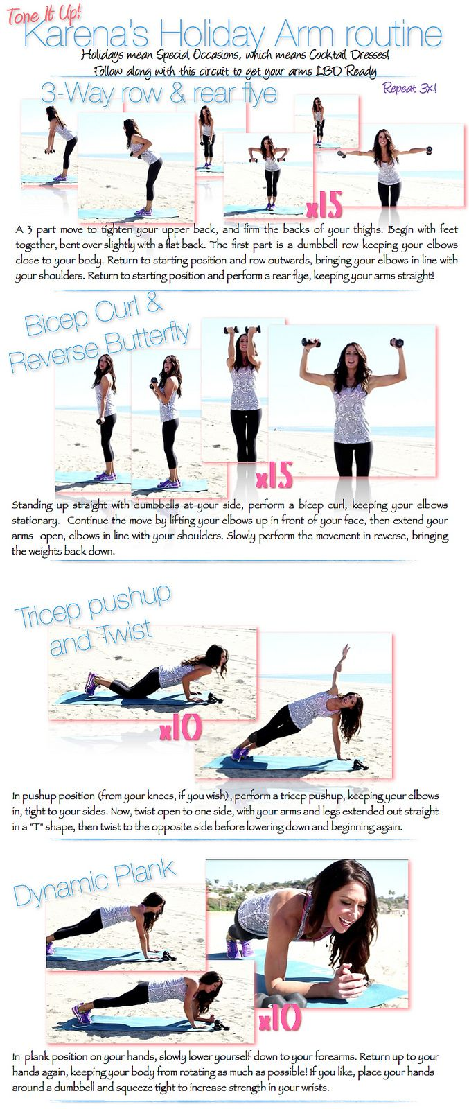 Top 3 workouts for Slim & Toned Arms for SUMMER! #BIKINISERIES | ToneItUp.com