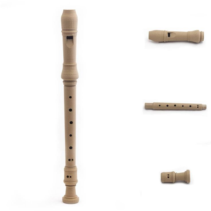 Flute from wooden filament by Michal Fanta