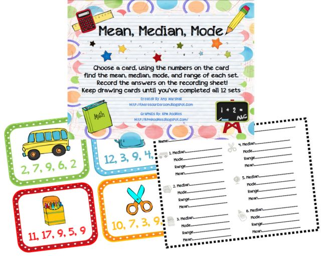 Classroom Freebies Too: Mean, Median, Mode review game