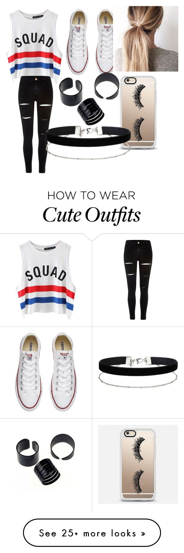 """Squad outfit"" by baileesandy on Polyvore featuring Chicnova Fashion, River Island, Converse, Casetify and Miss Selfridge"