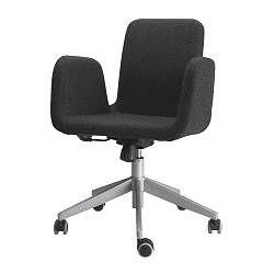 chair on wheels. patrik swivel chair - ikea office on wheels that can double as a side
