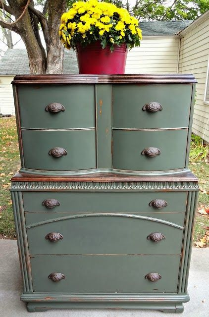 Love This Color And, Again, The Paint + Stain. Refinished FurnitureRepurposed  FurnitureFurniture MakeoverGreen ...