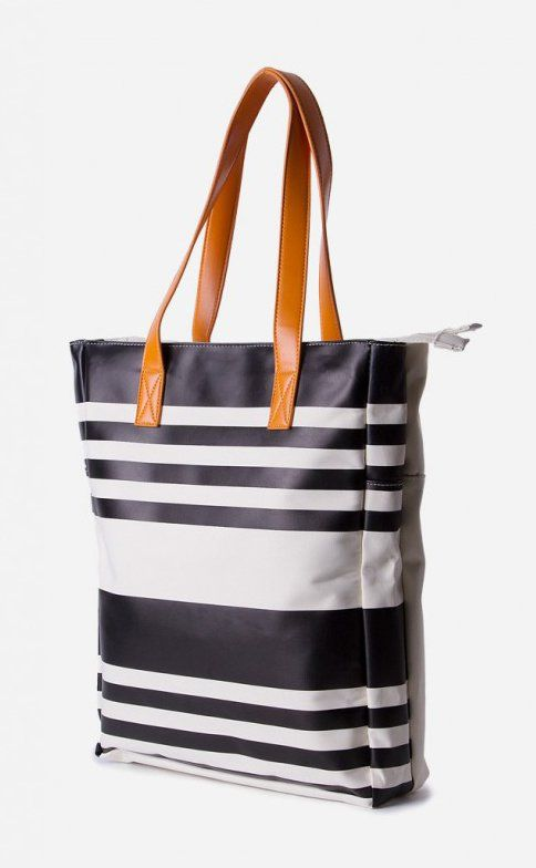 Pilar Unisex Totebag by WESC. Taking inspiration from nautical theme, this unisex tote bag is designed with spacious interiors and features zipper closure. It is a handy accessory to carry your daily necessities.  http://www.zocko.com/z/JFjJ3