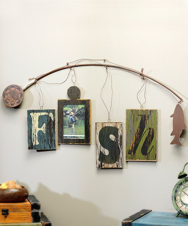 Look at this Fishing Rod Wall Frame on #zulily today! For Elijah's room