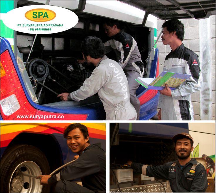 Crew Mekanik Bus Pariwisata Suryaputra 2015