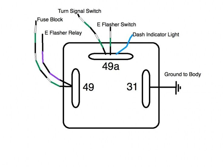 3 wire turn signal switch diagram