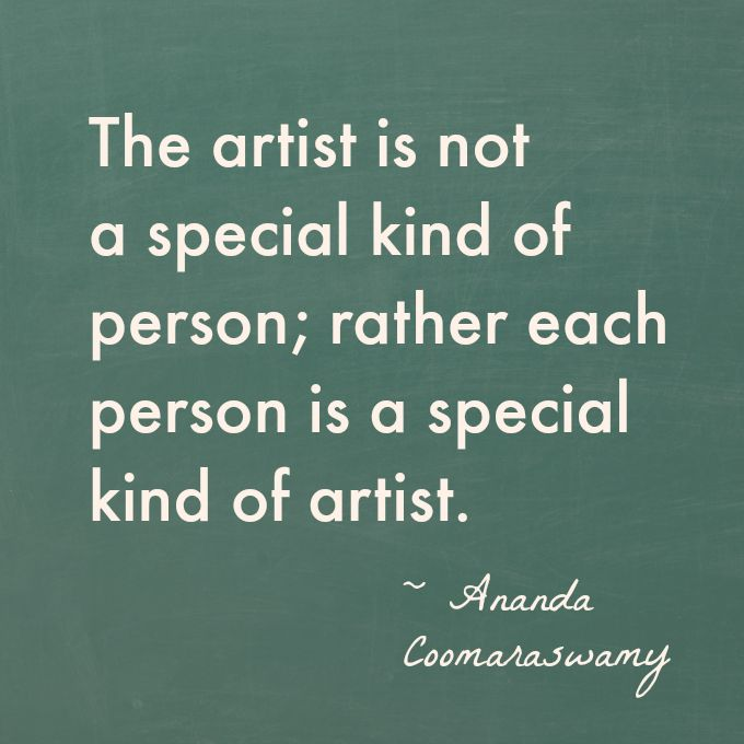 Good collection of quotes about creativity from Artful Parent