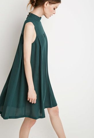 Strut your stuff in this emerald green swing dress from Forever21.