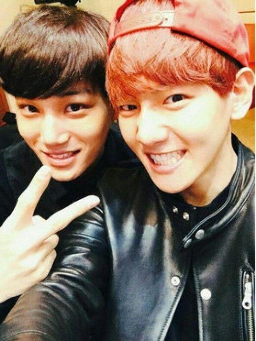 #exo #BaekHyun #Kai #kpop #cute #selfie #korea