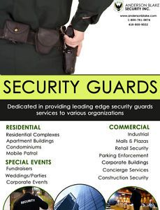 19 best security guard in ontario images on pinterest ontario anderson blake security inc is providing defensive and security guard services in brampton toronto mississauga ontario fandeluxe Gallery