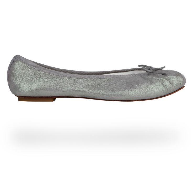 Ballerina Theatre Mystic Grey Metallic Goatskin Suede by Repetto. #Repetto #Wedding #WeddingShoes #Metallic #MetallicShoes