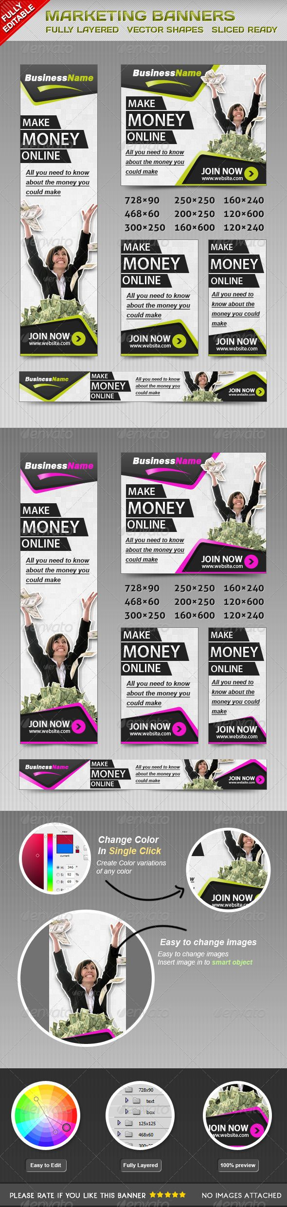 Marketing Web Banners Template PSD   Buy and Download: http://graphicriver.net/item/marketing-banners/4584147?WT.ac=category_thumb&WT.z_author=msrashdi&ref=ksioks