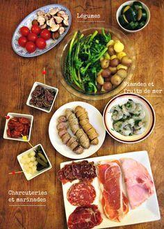 Raclette et accompagnement