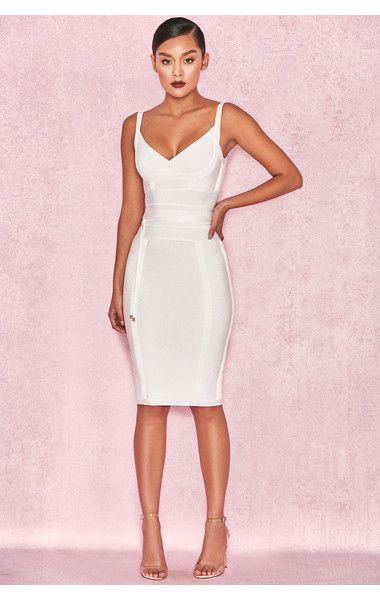 53ead46caf9d Ropa: Vestidos bandage: 'Belice' vestido bandage blanco lazado en la ...