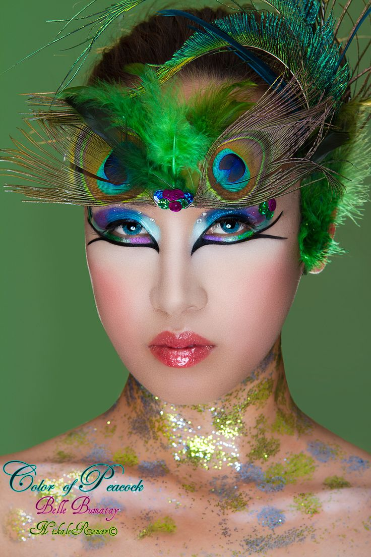 Sparkle shine glitter hair and makeup feathers shimmer - Moxie Glam Makeup Color Of Peacock