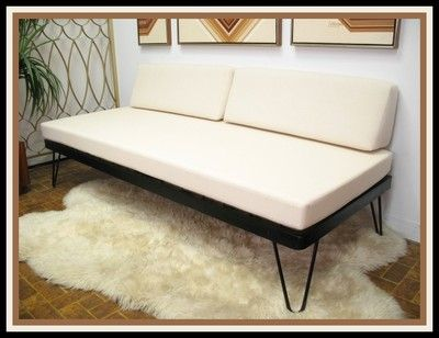 vintage danish modern mid century daybed sofa hairpin legs nelson eames era wow vintage. Black Bedroom Furniture Sets. Home Design Ideas