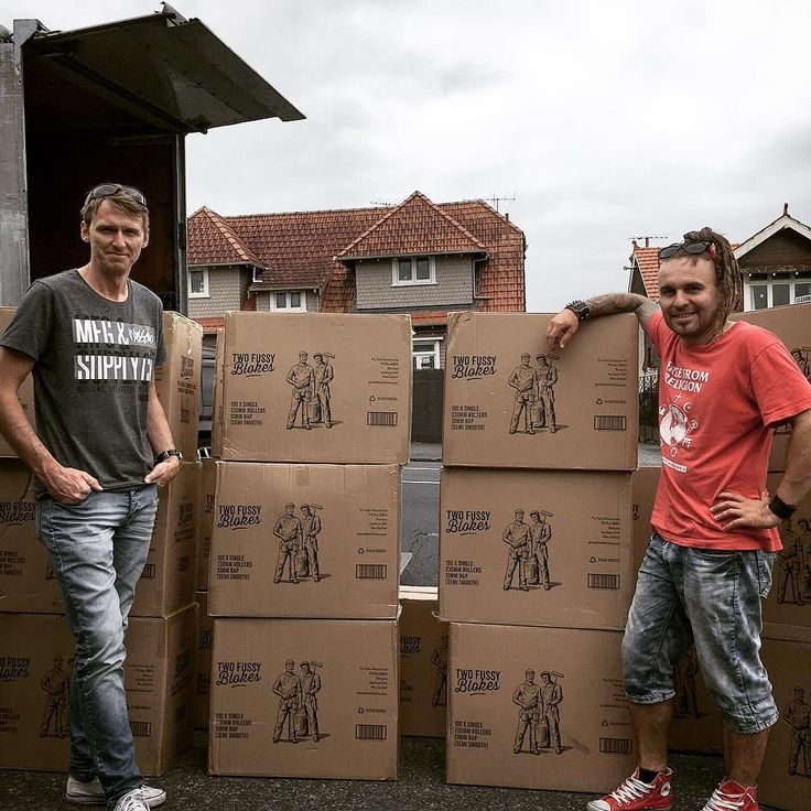 Peter and Chris with first shipment