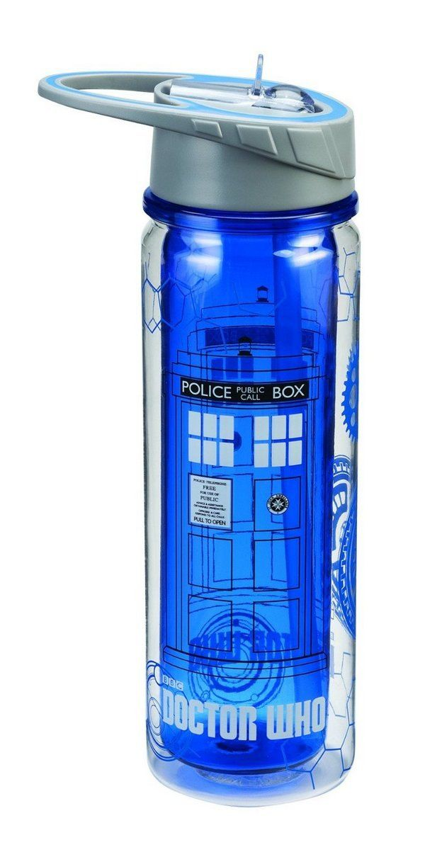 water bottle tardis doctor dr who products merchandise #RaggedyFan
