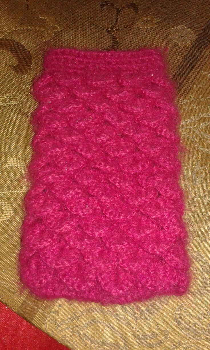 Crochet crocodile stich phone case