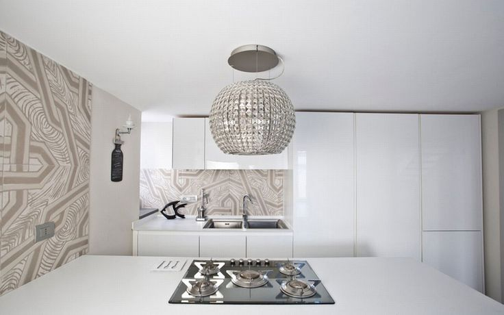A modern concept for the kitchen, enhanced by the decoration of the walls #interdema #shabbychic #contemporarydesign
