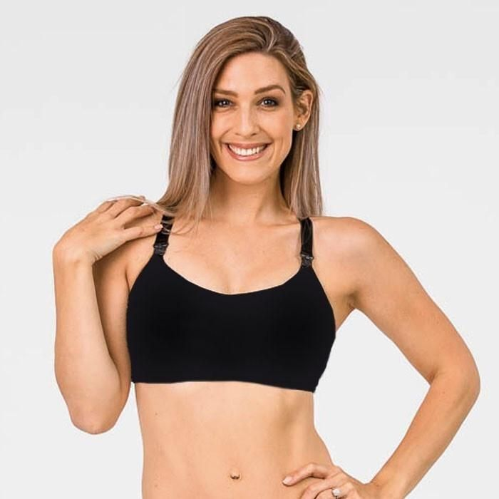 Breastfeeding Sports Bra - Nursing Sports Crop. The best support a bra will ever give you. Go from exercising to breastfeeding in a flash. You can now look awesome in your activewear, aka 'mum uniform', and still breastfeed easily with these breastfeeding sports bras.