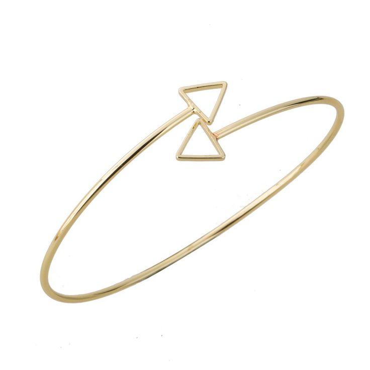 Bracelet jonc flêche or