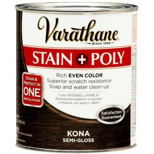 Varathane Stain + Poly in Kona