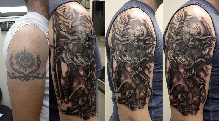 St Michael cover up tattoo | Marina Alex | Flickr