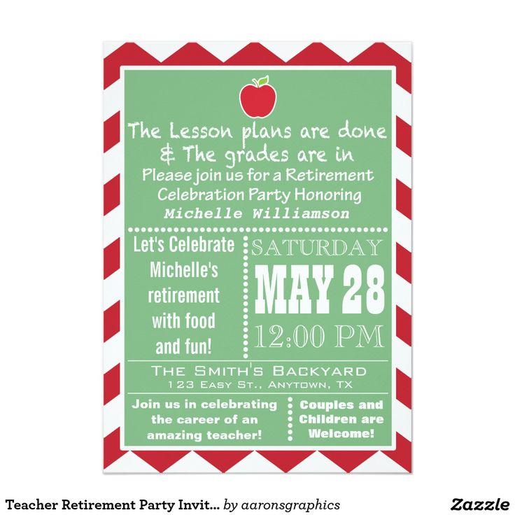 The 25+ best Teacher retirement parties ideas on Pinterest ...