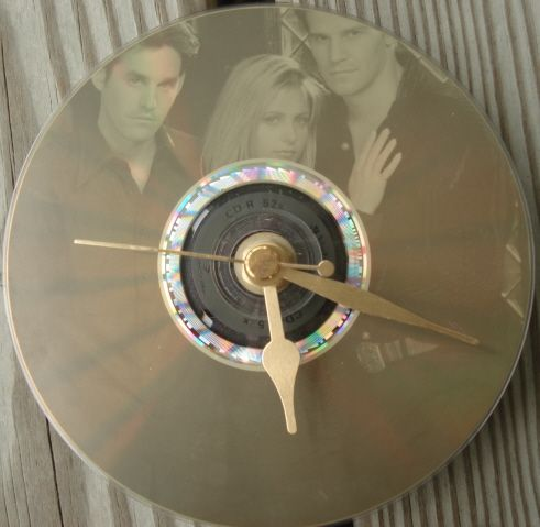 love this diy clock and buffy u0026 angel u0026 xander