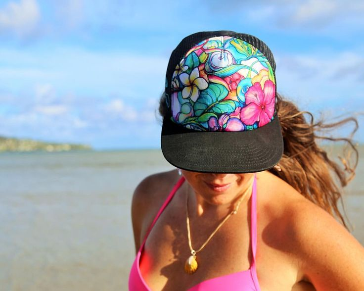 "Colleen Malia Wilcox on Instagram: Limited supply of ""Paradise"" floral trucker hat is on my website: www.colleenwilcoxart.com  #alohatruckerhats"