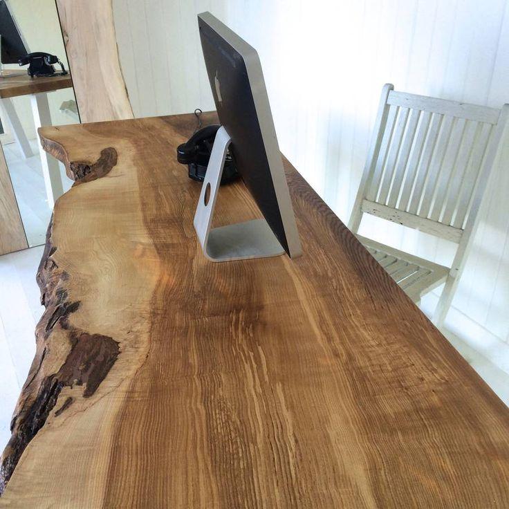 Desk 'Live Edge' Ash Or Oak
