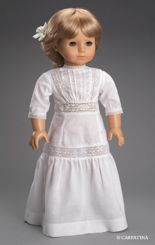 """Amazon.com: Edwardian White Tea Dress, Fits 18"""" American Girl Historical Doll Clothes: Toys & Games"""