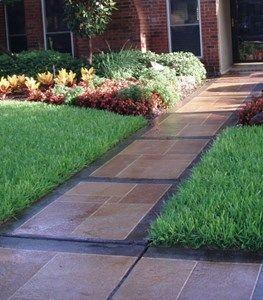 Colored Concrete Walkway  Backyard Creations  Carrollton, TX